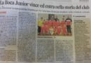 Corriere Adriatico – Vittoria storica per la Boca Junior C5