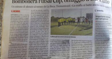 La Boca omaggia il Giudice Paolo Borsellino